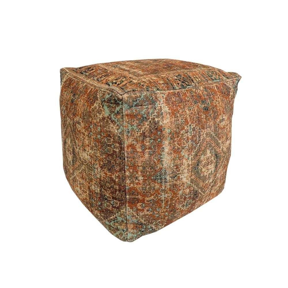Σκαμπό Cotton, Πολύχρωμο, Boho 10037, 45x45x45εκ., Αrt Et Lumiere