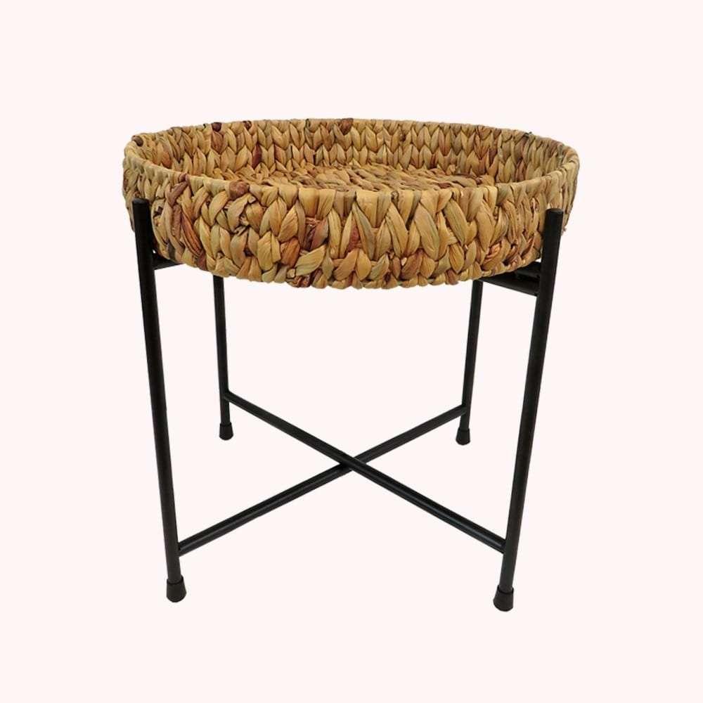 Τραπέζι, Υάκινθος, Μελί, Φ50x49εκ., Αrt Et Lumiere