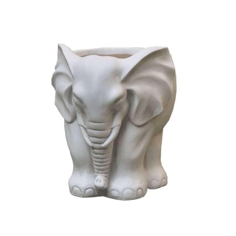 Γλάστρα Ελεφαντάκι, Fiberclay, 39x30x35Η, Λευκό, Art Et Lumiere