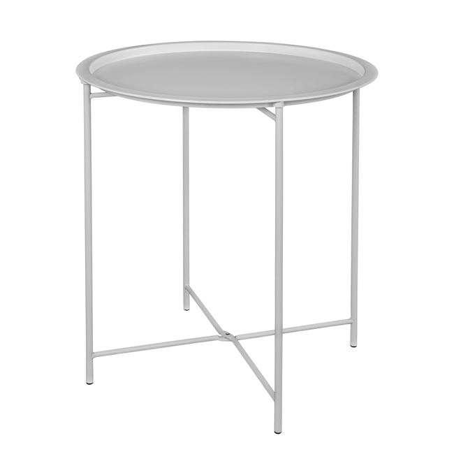 Τραπέζι Πτυσσόμενο, Μεταλλικό, Λευκό, Φ46x52εκ., HM5287.02