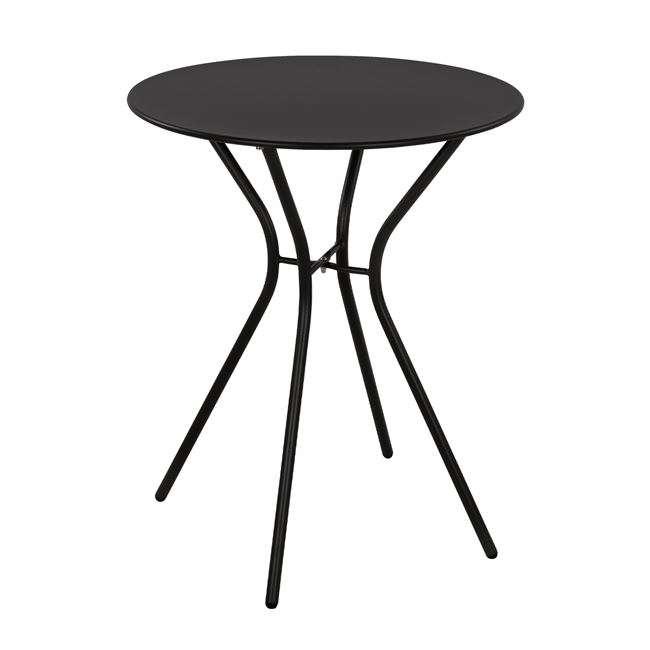 Τραπέζι Μεταλλικό, Μαύρο, Abby, Φ60X72Yεκ., HM552411