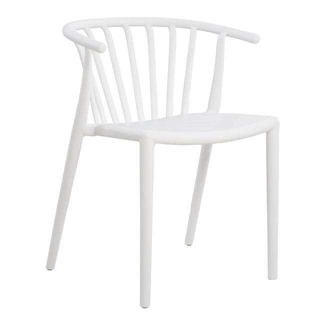 Καρέκλα Πολυπροπυλενίου, Λευκή, HM8117.02
