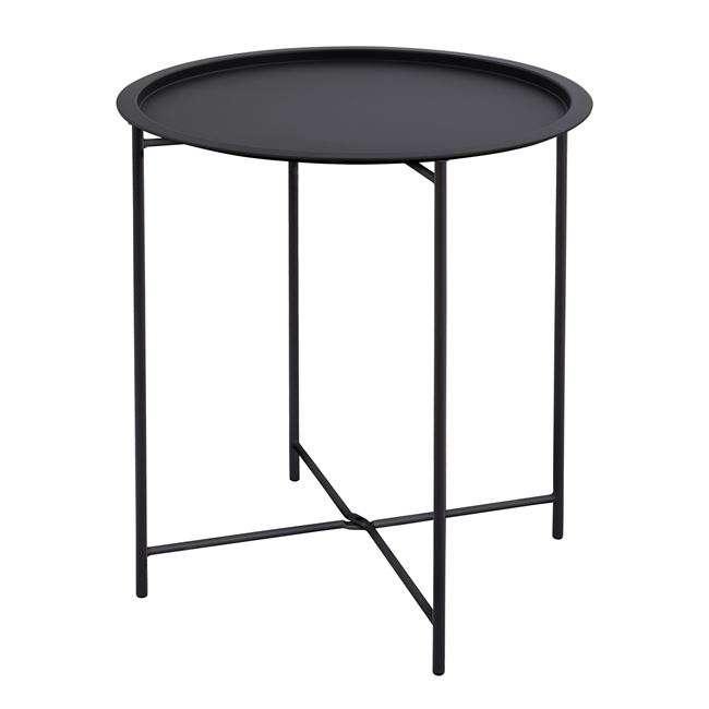 Τραπέζι Πτυσσόμενο, Μεταλλικό, Ανθρακί, Φ45x52εκ., HM5287.01