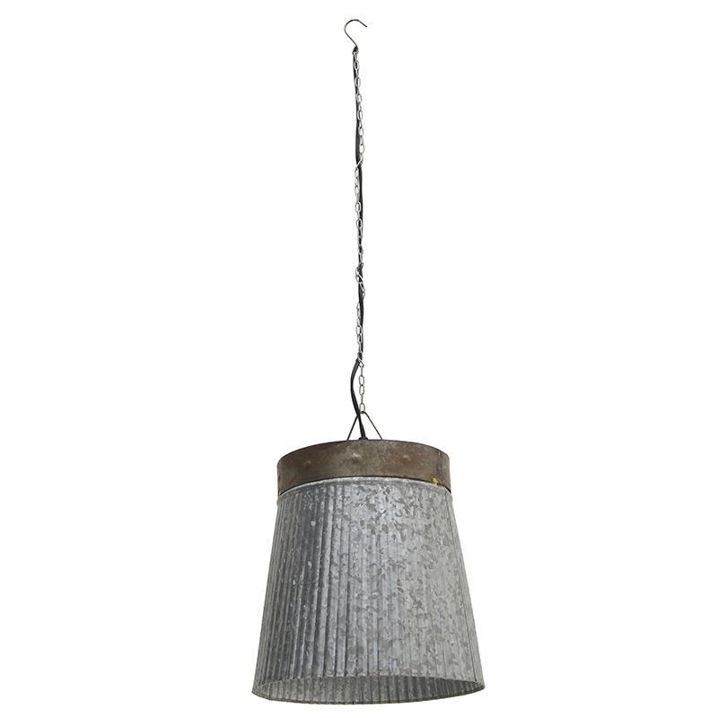 Φωτιστικό Οροφής, Μεταλλικό, Γκρι, 25x25x28εκ., Ιnart