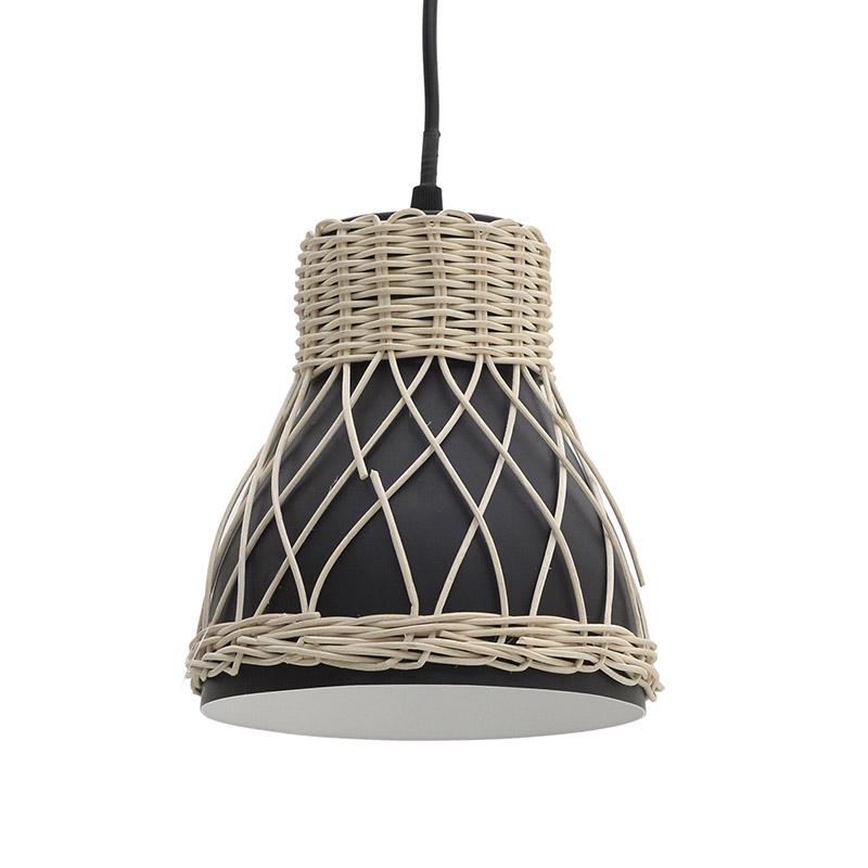 Φωτιστικό Οροφής, Φυσικό/Μπεζ & Μαύρο, 18x18x19εκ., Ιnart