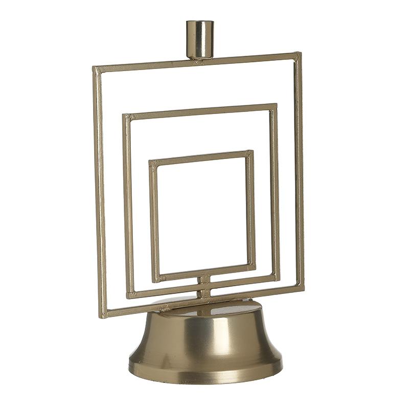 Κηροπήγιο Μεταλλικό, Χρυσό, 20x12x29εκ., Inart