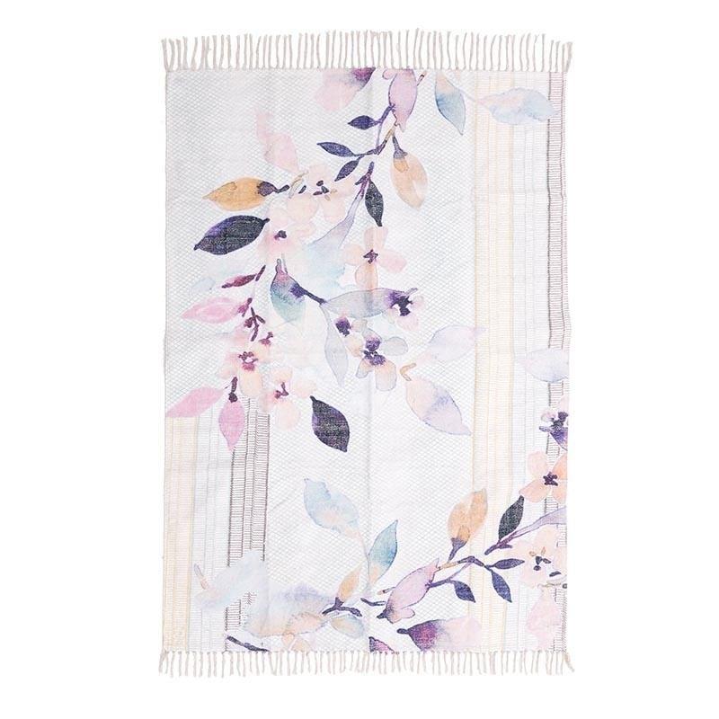 Χαλί Cotton, Με Σχέδια Κλαδιά, Πολύχρωμο, 120x180εκ., Ιnart