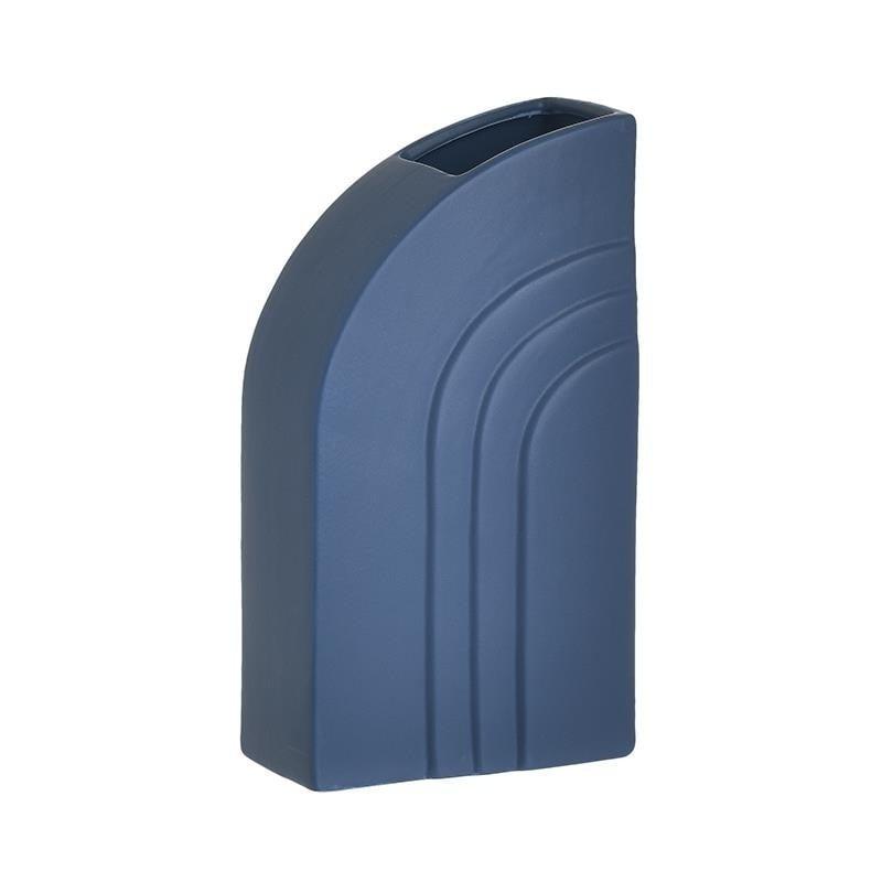 Διακοσμητικό Βάζο Κεραμικό, Μπλε, 13x7x23εκ., Inart