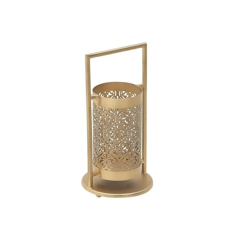 Φανάρι Μεταλλικό Χρυσό, 15x15x29εκ., Inart