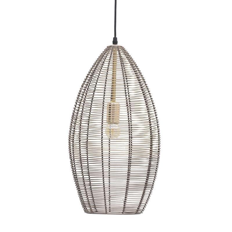 Φωτιστικό Οροφής Μεταλλικό, Μπρονζέ, 25x25x58εκ., Inart