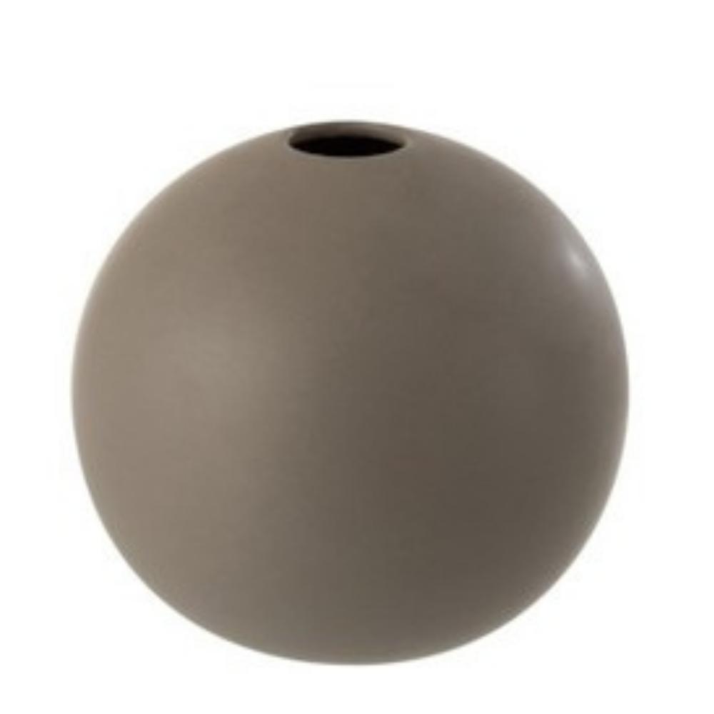 Διακοσμητικό Βάζο Κεραμικό, Γκρι Ματ, 18x17εκ., J-Line