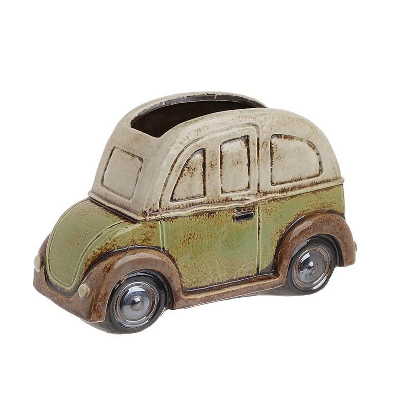 Κασπώ Κεραμικό, Αυτοκίνητο, Μπεζ/Πράσινο, 22x9x14εκ., Inart
