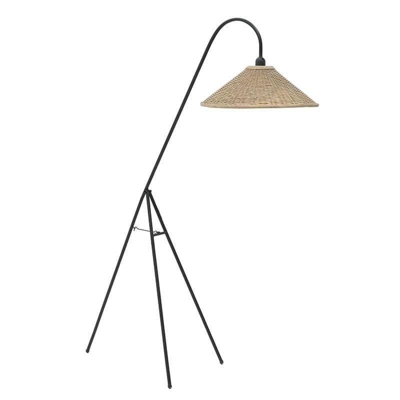 Φωτιστικό Επιδαπέδιο Μεταλλικό, Καφέ/Μαύρο, 103x53x150εκ., Inart