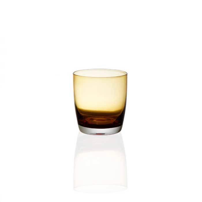 Ποτήρι Ουίσκι, Σετ 6 Τμχ., 350ml, Irid Amber, Cryspo Trio