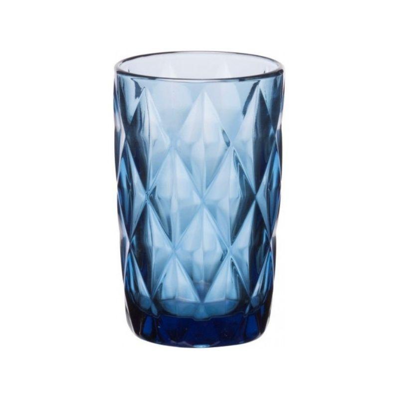Γυάλινο Ποτήρι Νερού Σωλήνας, Σετ 6 Τμχ., 33cl, Kare Blue, Cryspo Trio