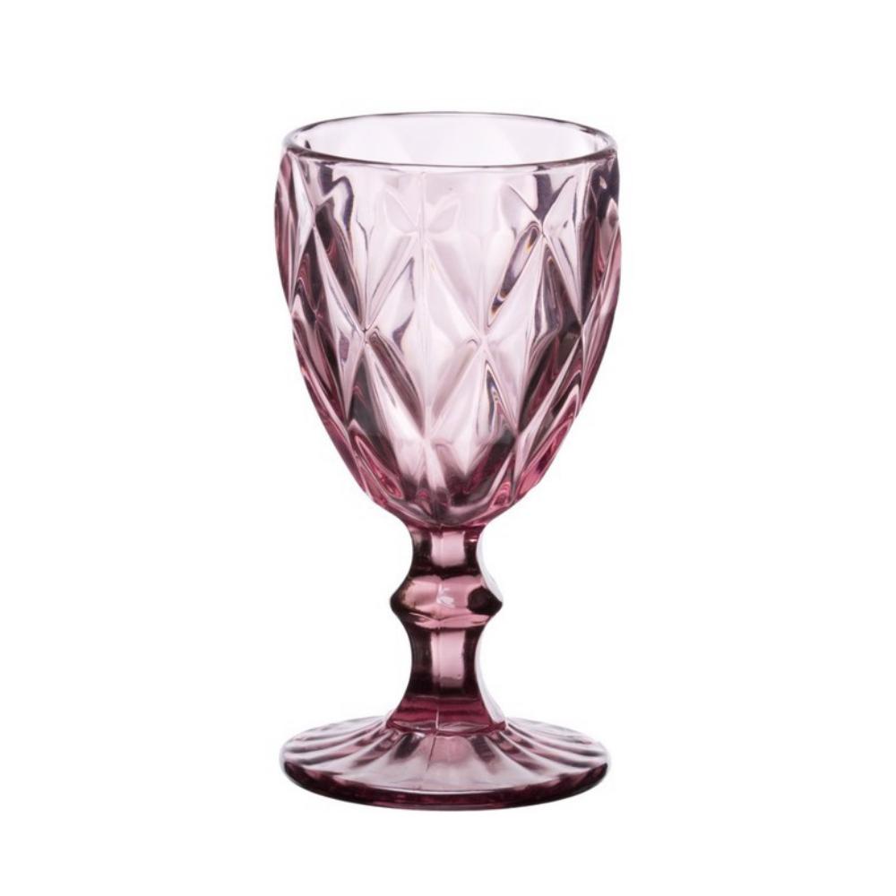 Ποτήρι Νερού Με Πόδι, Σετ 6 Τμχ., 32cl, Kare Purple, Cryspo Trio
