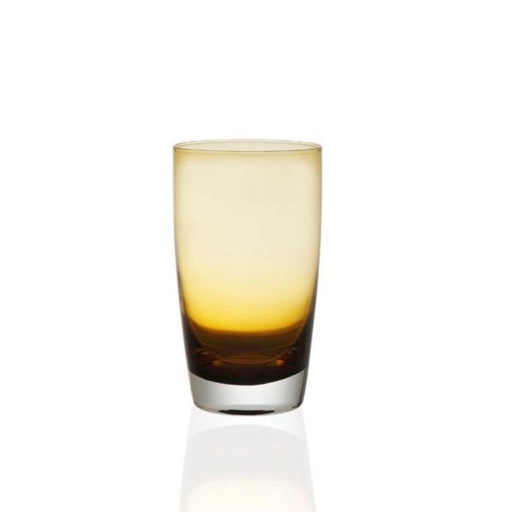 Ποτήρι Νερού Σωλήνας 550ml, Σετ 6 Τμχ., Irid Amber, Cryspo Trio